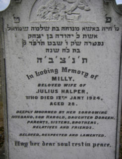 Halper, Milly nee Ginsberg