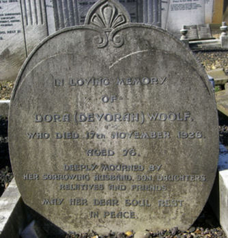 Woolf, Dora (Devorah)(married name)