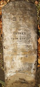 Davis, Esther nee Emanuel