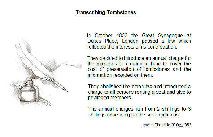 8. Item of interest - Transcribing tombstones
