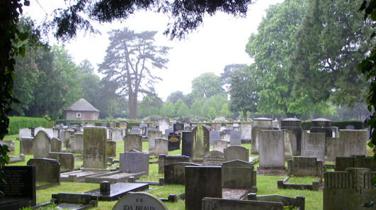 Wolvercote Cemetery - general view