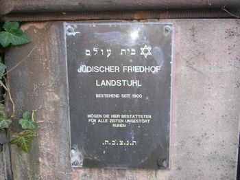 Landstuhl Jewish Cemetery, Germany - Plaque