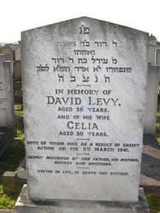 Levy, David and Celia (married name)